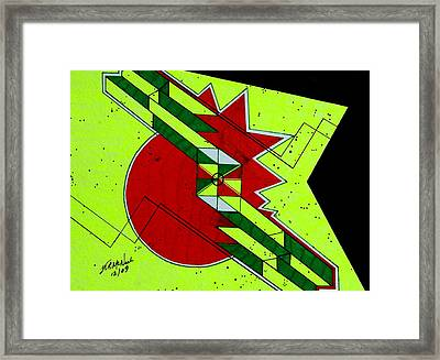 Mind Stroke Framed Print by Willie McNeal