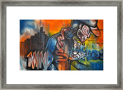 Mind Substance Framed Print by Wall  Street