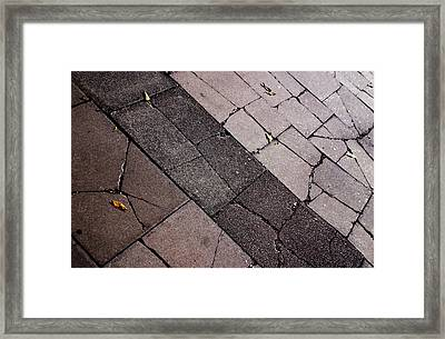 Mind The Cracks Framed Print by Jez C Self