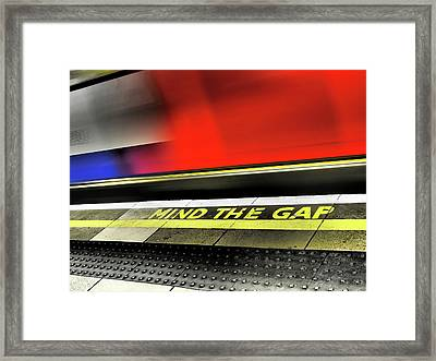 Mind The Gap Framed Print by Rona Black