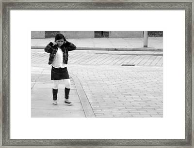 Mind The Road Framed Print by Jez C Self