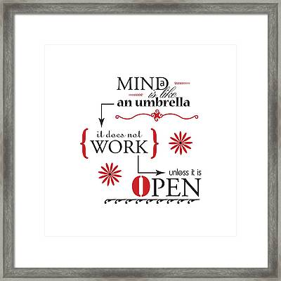 Mind Umbrella Framed Print by Linda Carruth