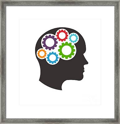 Mindful Thinking Person Framed Print