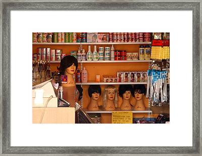 Minding The Shop Framed Print by Jez C Self