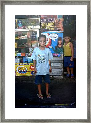 Minding The Store Framed Print by Jez C Self