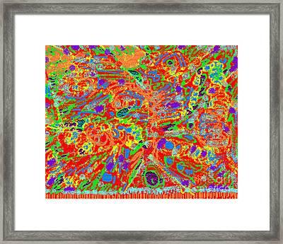 Mind's Eye Persian Rug Framed Print by Beebe  Barksdale-Bruner