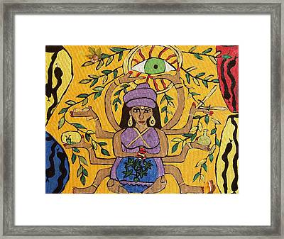 Minds Eye Sees Of The Future Framed Print by Betty  Roberts