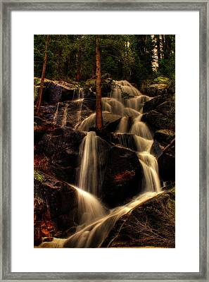 Quaking Aspen Falls Along Tioga Pass  Framed Print