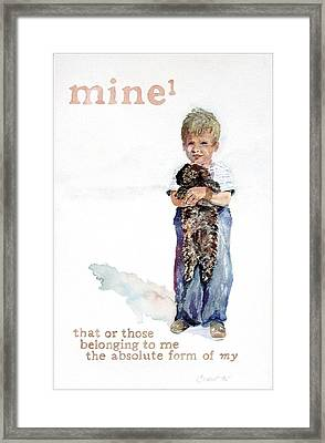 Mine Framed Print by Janice Crow