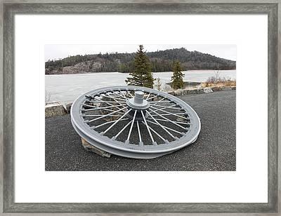 Mine Shaft Wheel Framed Print by Richard Mitchell