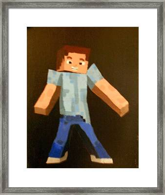 Minecraft Steve Framed Print