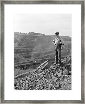 Miner John Palumbo, Jr. 1921-2008 Framed Print by Everett