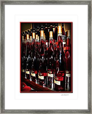 Framed Print featuring the photograph Miner Pink Sparkling Wine by Joan  Minchak