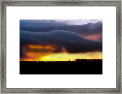 Minera Sunset 2 Framed Print