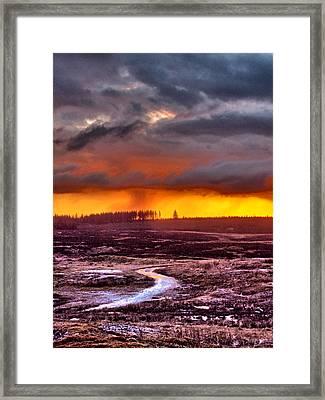 Minera Sunset 4 Framed Print