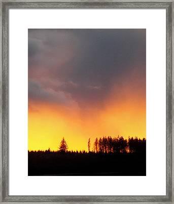 Minera Sunset Framed Print