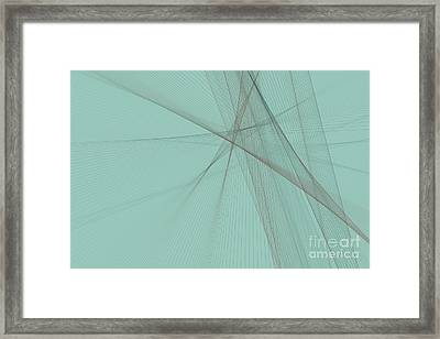 Mineral Computer Graphic Line Pattern Framed Print