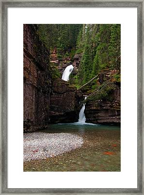 Framed Print featuring the photograph Mineral Creek Falls by Steve Stuller