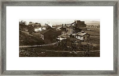 Mineral Springs Colliery Parsons Gravel Hill Scranton Patch Area Of Wilkes Barre Pa 1913 Framed Print