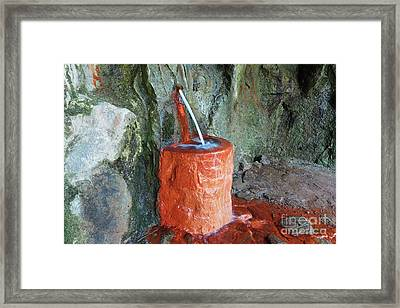Mineral Water Spring - Drinking Fountain Framed Print by Michal Boubin