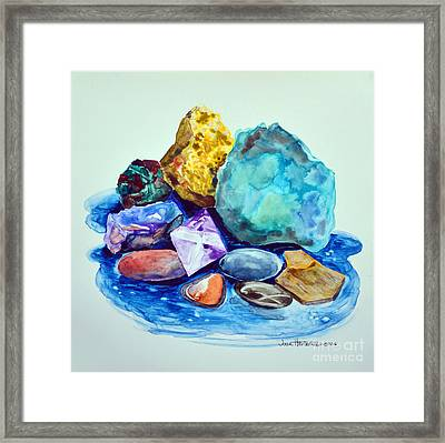 Minerals And Beachstones Framed Print