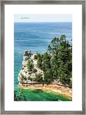 Miners Castle Rock Framed Print