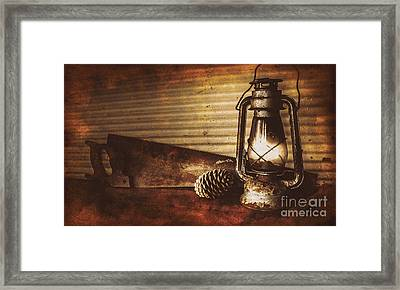 Miners Cottage Details Framed Print