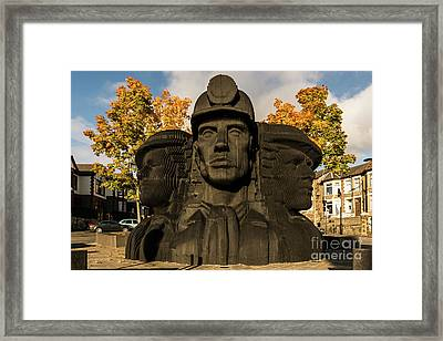 Miners In The Autumn Framed Print