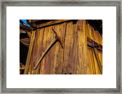 Miners Pick Framed Print by Garry Gay