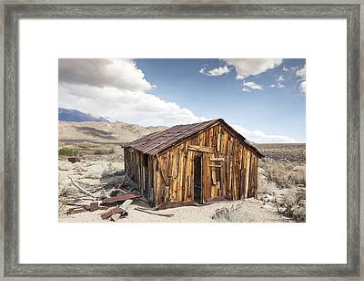 Miner's Shack In Benton Hot Springs Framed Print