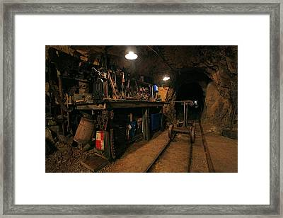 Miner's Toolshed Framed Print by Mike Flynn