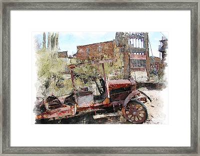 Miners Truck Framed Print by Dale Stillman