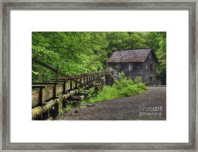 Mingus Mill 2 Mingus Creek Great Smoky Mountains Art Framed Print