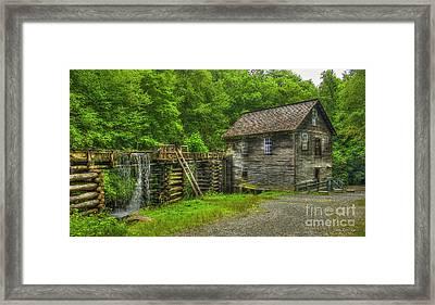 Mingus Mill 3 Mingus Creek Great Smoky Mountains Art Framed Print