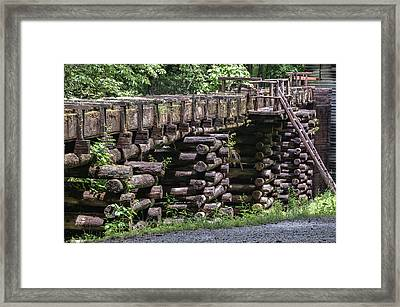 Mingus Mill Flume Framed Print by Phyllis Taylor