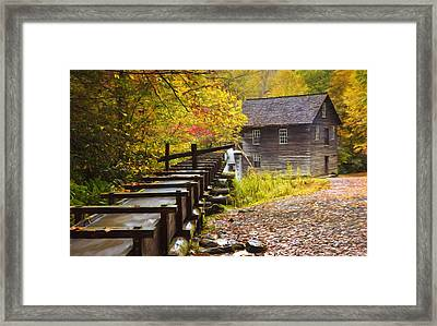 Mingus Mill Painted Framed Print