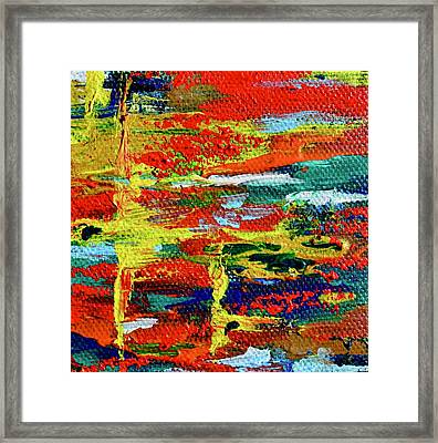 Mini Abstract In Red Framed Print by Beverley Harper Tinsley
