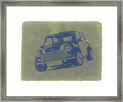 Mini Cooper Framed Print by Naxart Studio