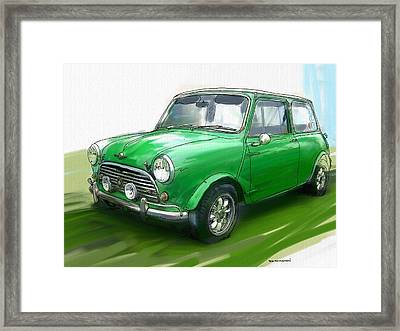 Mini Cooper Framed Print by RG McMahon