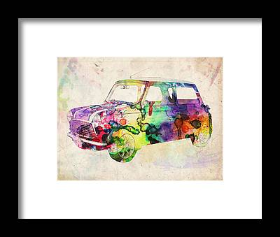Mini Cooper Framed Prints