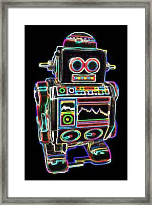 Mini D Robot Framed Print by DB Artist