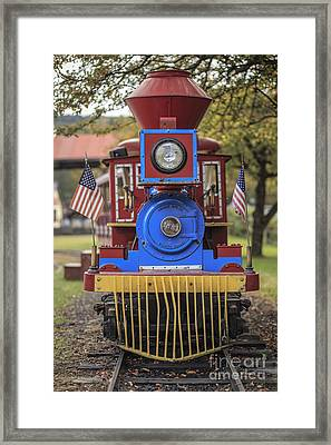 Mini Fun Train Quechee Vermont Framed Print by Edward Fielding