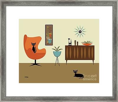 Framed Print featuring the digital art Mini Gravel Art 3 by Donna Mibus