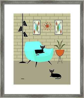 Framed Print featuring the digital art Mini Gravel Art With Brick Wall by Donna Mibus