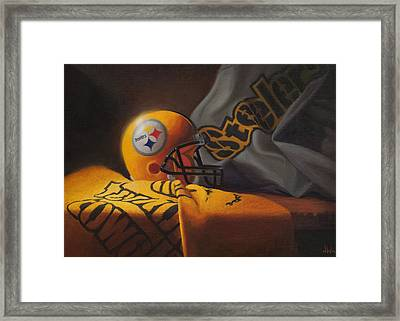 Mini Helmet Commemorative Edition Framed Print
