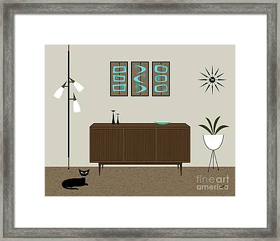 Mini Mod Shapes Framed Print