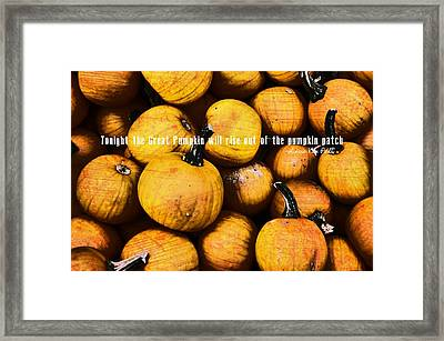 Mini Pumpkin Patch Quote Framed Print by JAMART Photography