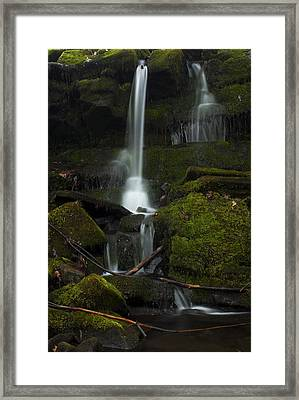 Framed Print featuring the photograph Mini Waterfall In The Forest by Jeff Severson