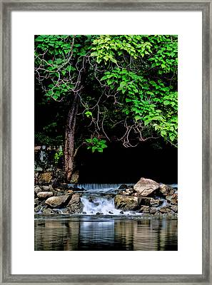 Mini Waterfall On The St Joe River After Rain Framed Print by S Michael Basly - PhotoGraphics By S Michael