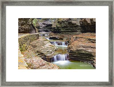 Mini Waterfalls Framed Print by Kathy Yeung